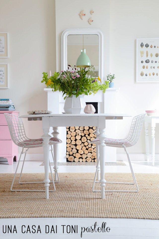Home Shabby Home: Casa scandinava dai toni pastello