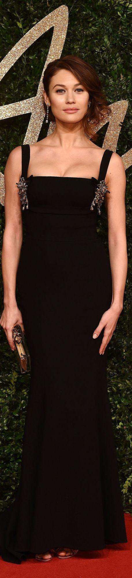 Olga Kurylenko in Dolce&Gabbana, British Fashion Awards 2015 London