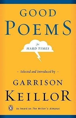 It's a collection of poems Garrison Keillor has read on his radio show, and I remember I jotted down so many of the titles & poets. I really liked his introduction too.