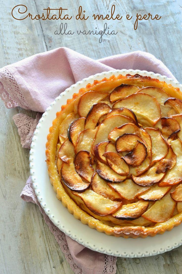 la pancia del lupo: Crostata di mele e pere alla vaniglia