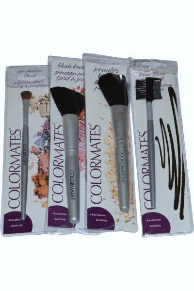 Colormates Make Up Brush Offer allows you to create the perfect look with a flick of a brush...or 4! This set includes the most important brushes for your makeup routine. Includes: Eyeshadow Brush, Brow Brush and Comb, Powder Brush and Blush Brush. £3.99