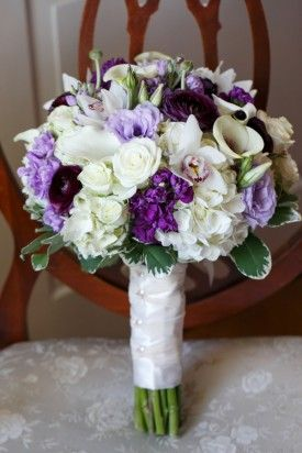 bridal bouquet purple wedding maryland Inspired Photography Susie Becky 275x412 Pretty Purple Country Club Wedding Ceremony in Maryland: Katie + Kevin