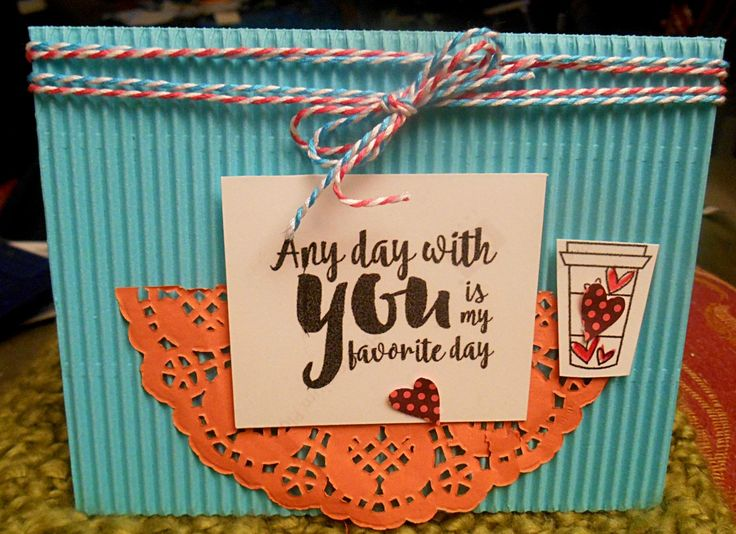 Handmade card by Julia using the Love From Me digital set by Verve. #vervestamps