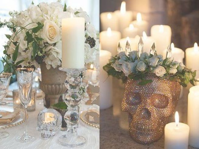 Elegant Skull Wedding Centerpieces Perfect For Fall Or Halloween