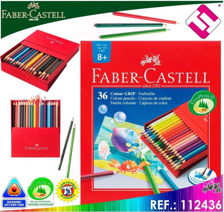 FABER CASTELL ESTUCHE 36 LAPICES COLORES ACUARELABLES PARA ACUARELA UNIDADES