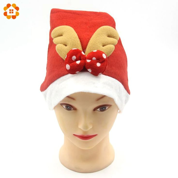1PCS Christmas Ornaments Adult Ordinary Christmas Hats Santa Hats With Antlers For Home Chiristmas Party Decoration