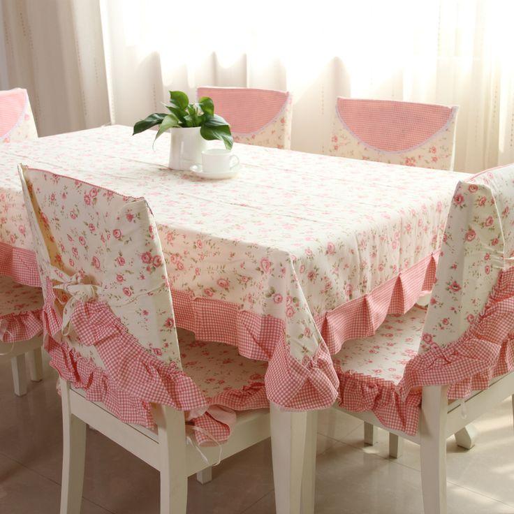 ev romantik pamuklu kumaş masa örtüsü sandalye örtüleri koltuk rustik(China (Mainland))