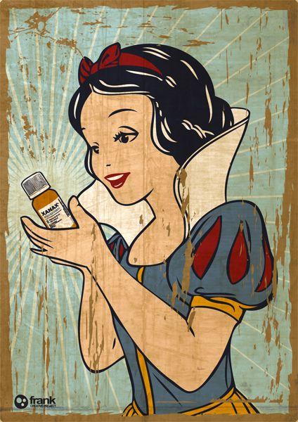 Snow White And Her Xanax by Francesco Salerno, via Behance