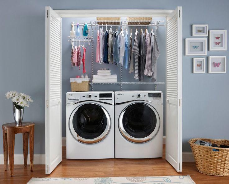 Небольшой чулан позволит даже расположить стиральную машину