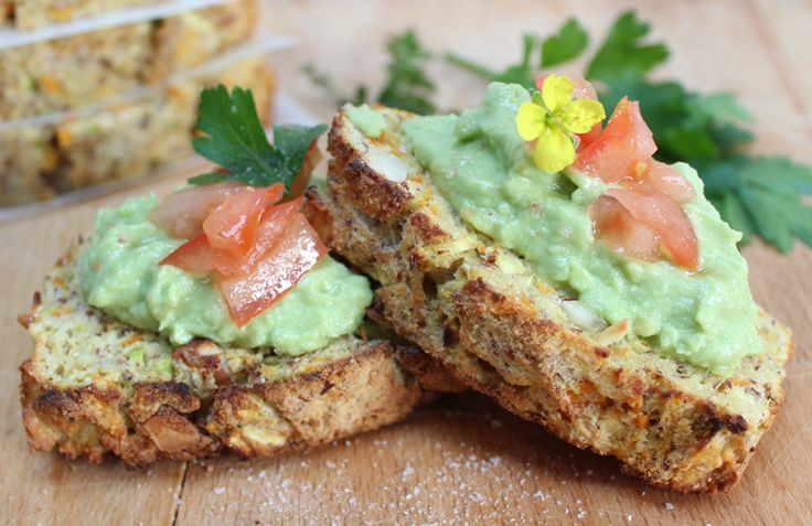 Crunchy Zucchini Bread.  Gluten, dairy and sugar-free.  The perfect alternative to bread.