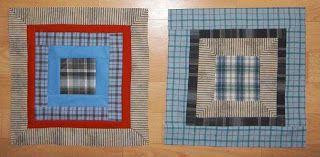 Látky a klubíčka: Návod na patchworkovou deku / Fractured Log Cabin Quilt - tutorial