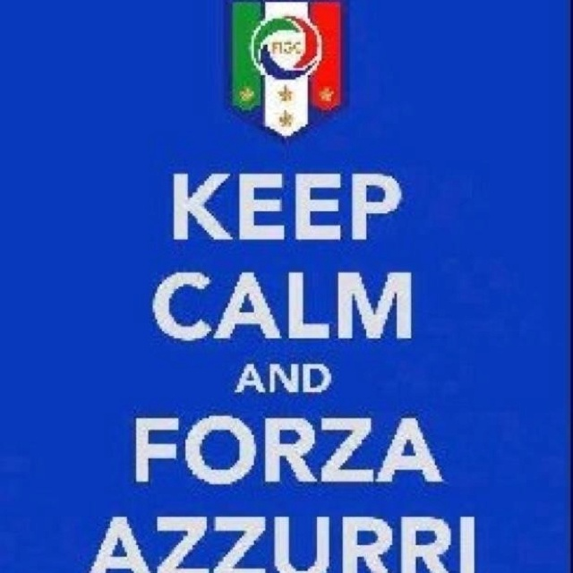 Forza Azzurri!  However, can you really keep calm while watching Gli Azzurri?