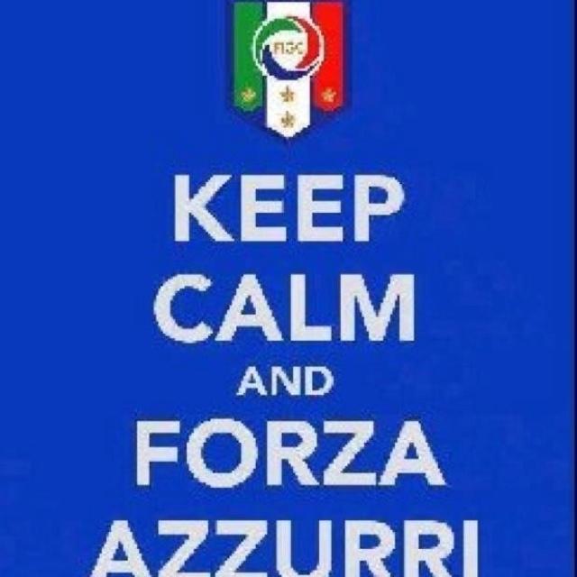 Forza Azzurri!  However, can you really keep calm while watching Gli Azzurri?