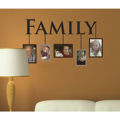 Peel & Stick Reusable Family Portraits Wall Decal