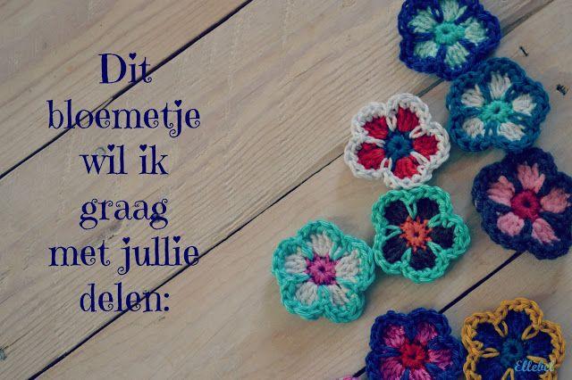Pickter Tutorial little crochet flower / Tutorial kleine buiten haken met foto's Dutch.