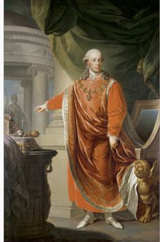 Leopold II- Holy Roman Emperor and King of Hungary, Bohemia from 1790 to 1792, Archdue of Austria an Grand Duke of Tuscany from 1765 to 1790, son of Emperor Francis I and wife Maria Theresa, thus the brother of Marie Antoinette - Enlightened absolutism