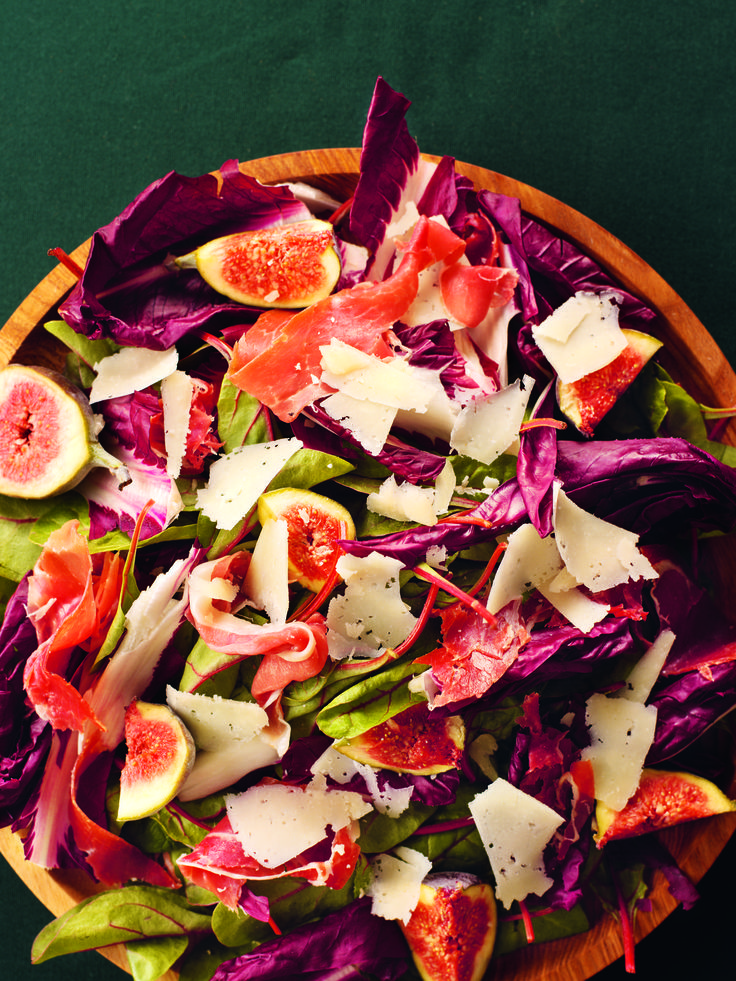 Perfect starter recipe - Red-Leaf, Fig and Serrano Ham Salad - Nigella Lawson
