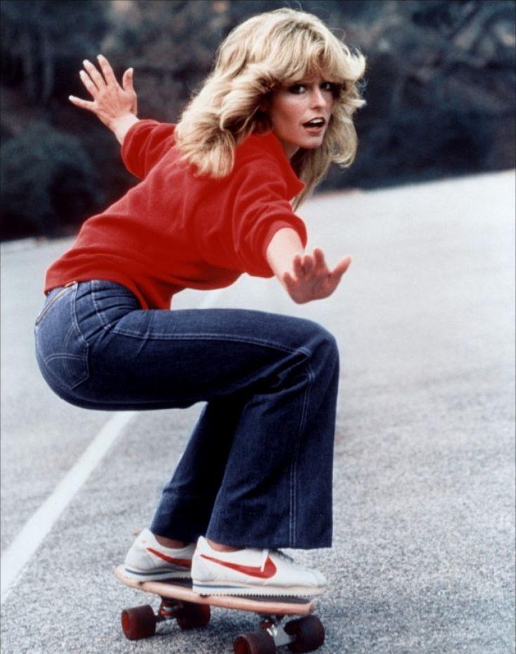Jill Munroe (Farrah Fawcett-Major). Skateboard Hero!