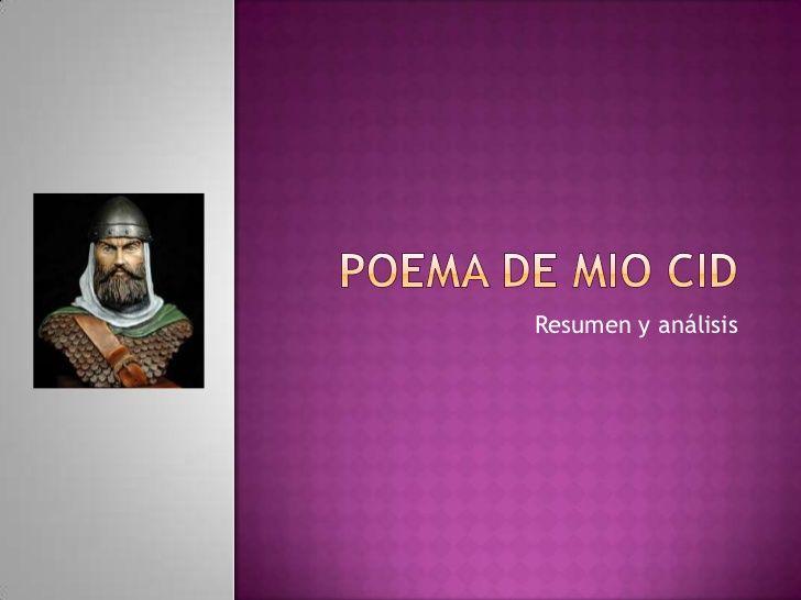 Cantar del Mío Cid  Autor: Anónimo  Literatura Edad Media