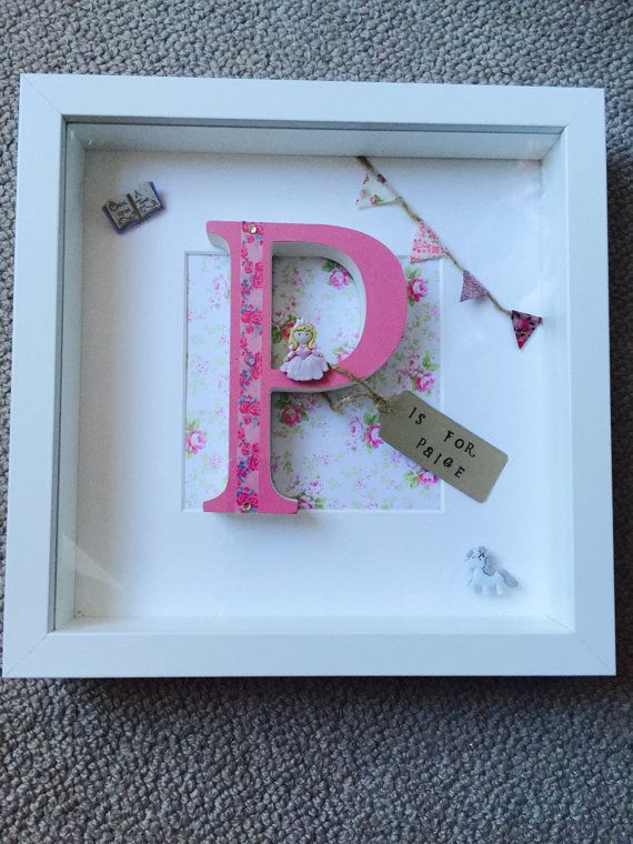 Wooden letter box frame baby shower gifts new by Munchkinmaker22