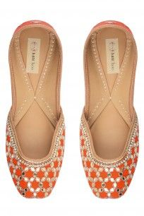 Blood Orange #footwear #juttichoo #designer #orange #embroidered #jutti #shopnow #happyshopping