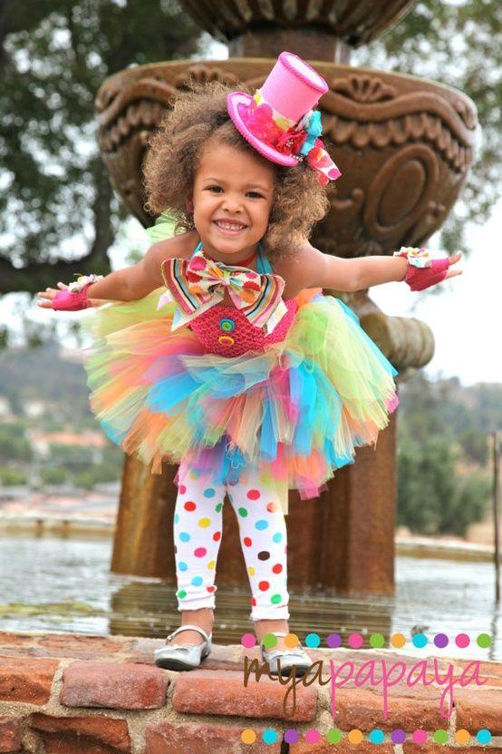 Disfraz payaso-tul colores