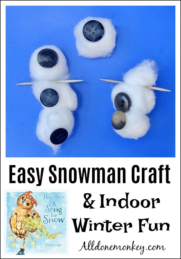 Looking for some ideas for indoor winter fun? Here is an easy snowman craft and activity, plus a wonderful children's book sure to become a family favorite!