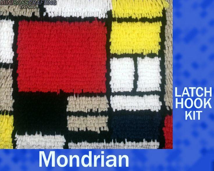 Mondrian Diy Latch Hook Rug Kit 10 10 5 Inches Latch