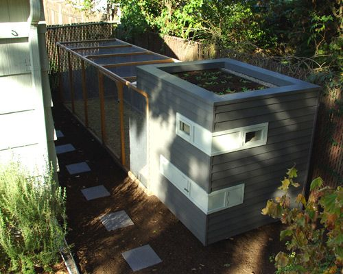Side yard urban chicken coop