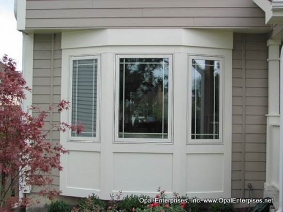 Custom Trimmed Bay Window Using James Hardie Fiber Cement