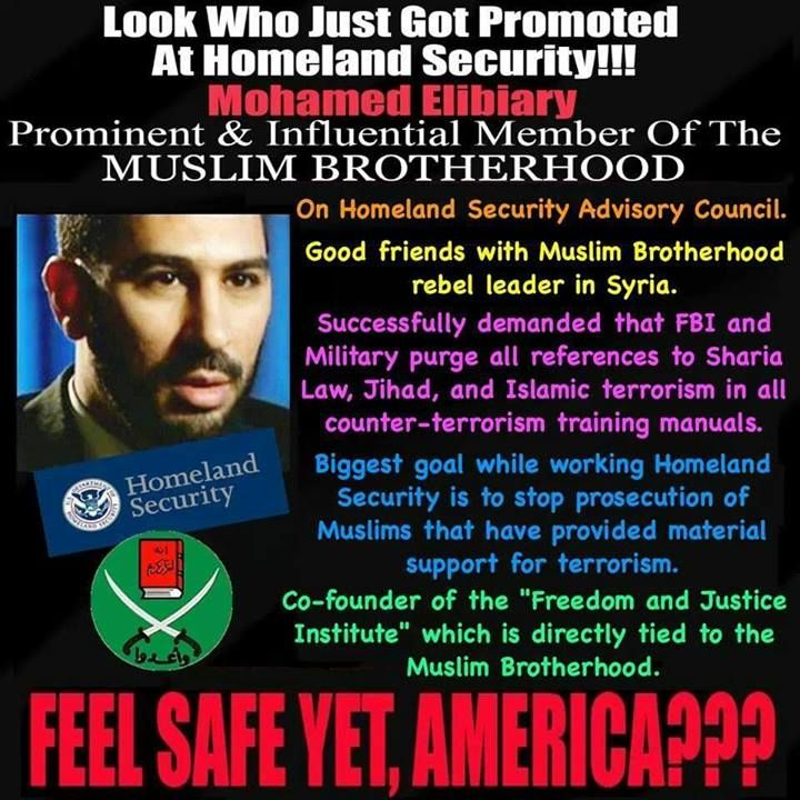 Anti Islamic World Wide Movement's photo. US President's Muslim Brotherhood now running DHS!