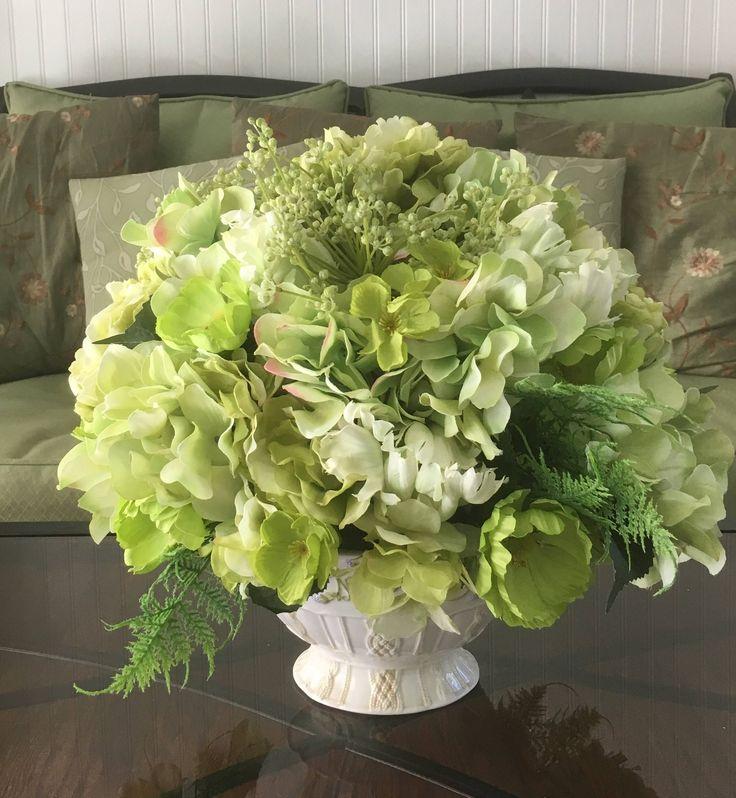 Best ideas about green hydrangea centerpieces on
