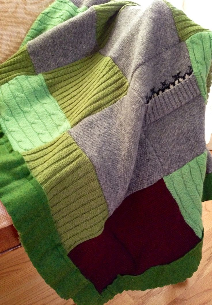 86 Best Felted Sweater Blankets Images On Pinterest