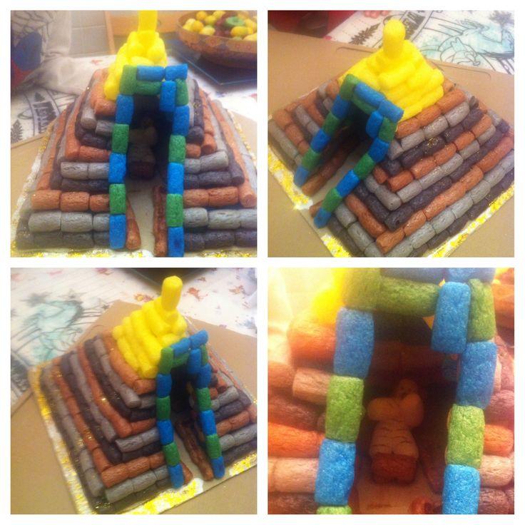 Pirámide #play mais #antiguo egipto #diy