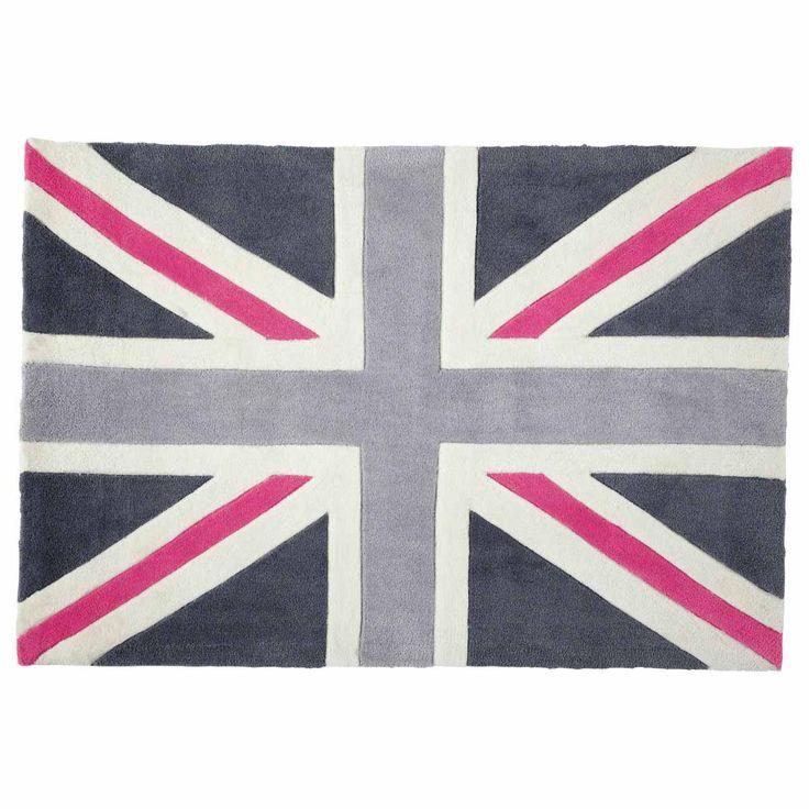 tapis union jack rose 80x120 maisons du monde