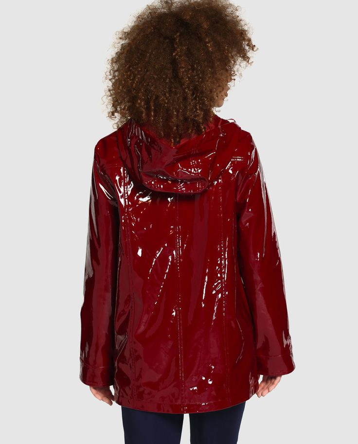 Shiny red raincoat! Would love to have this one