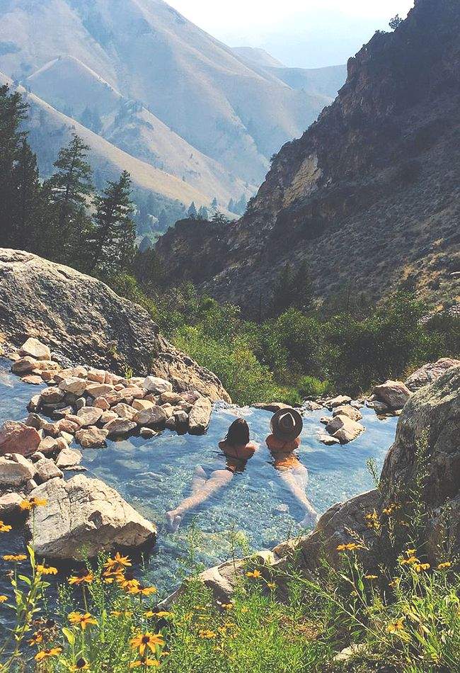 Goldbug Hot Springs Idaho. Been there. It is truly this amazing.