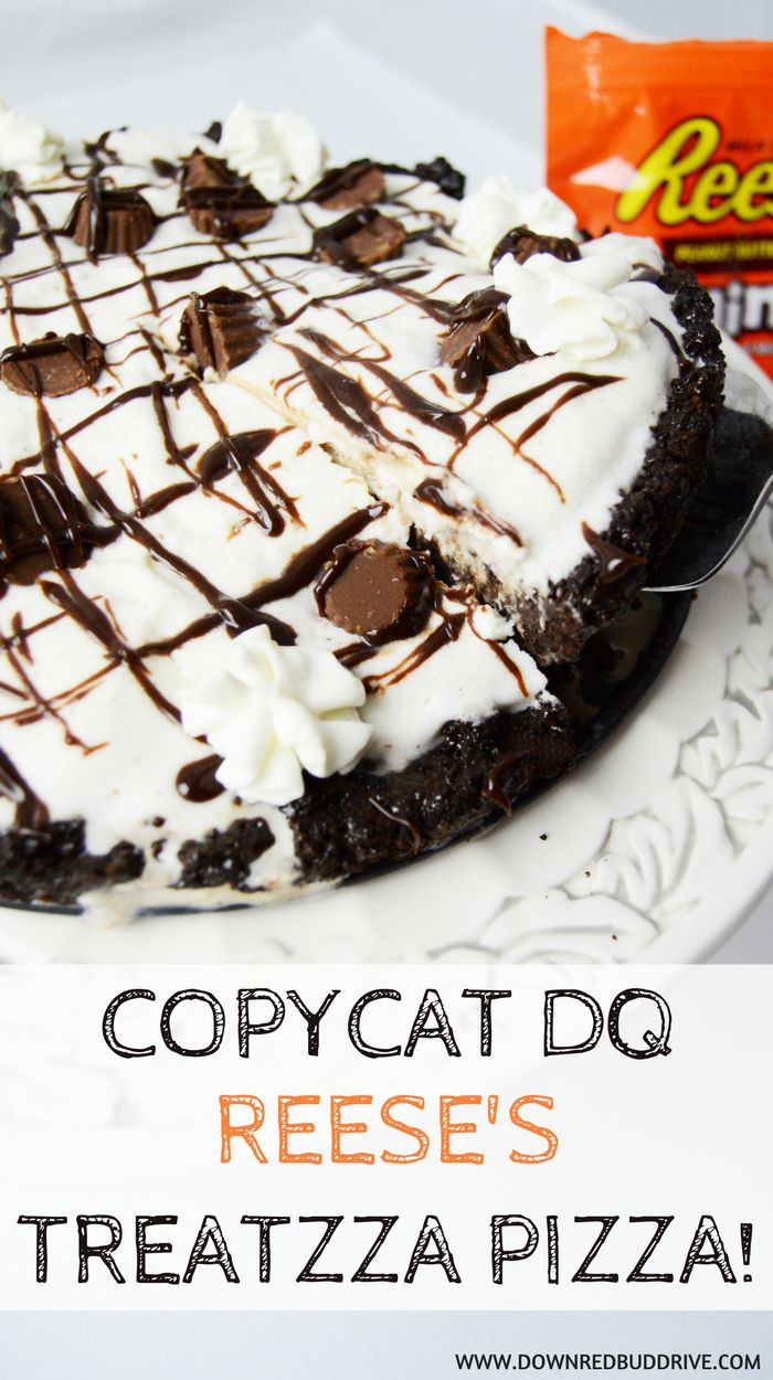 Copycat Dairy Queen Reese's Treatzza Pizza | Ice Cream Cake Recipe | Easy Ice Cream Cake | Dairy Queen Ice Cream Cake | Treatzza | DIY Treatzza | Treatzza Pizza Recipe | Reese's Dessert | Reese's | Reese's Ice Cream Recipe | Easy Reese's Recipe | Ice Crea