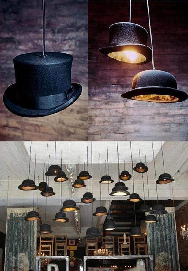Lampara de sombrero/ Hat lamp  #recycle design