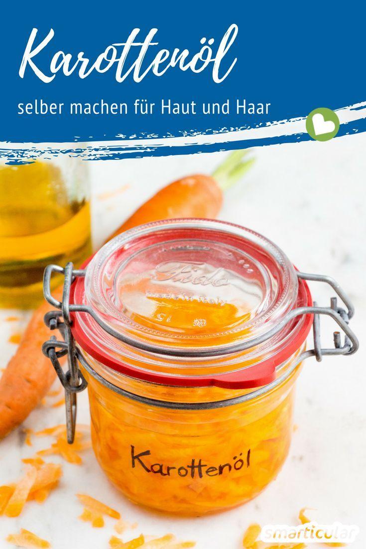 Karottenöl lässt sich kinderleicht selbst herstellen. Es enthält hautpflegend…