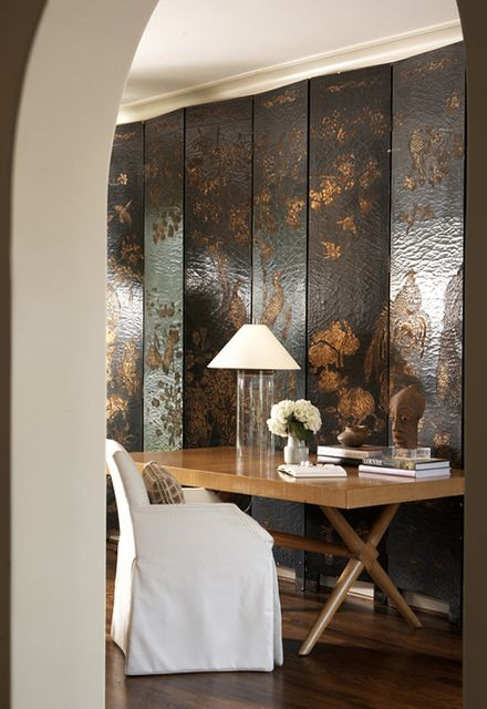 Chinoiserie Chic: Chinoiserie 2012 - The Work Space - this would work as a dining room too