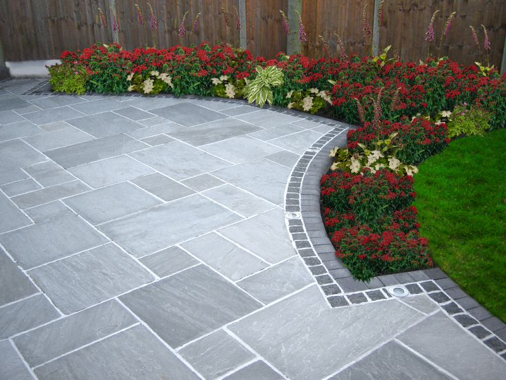 25 best ideas about paving stone patio on pinterest for Paved garden designs
