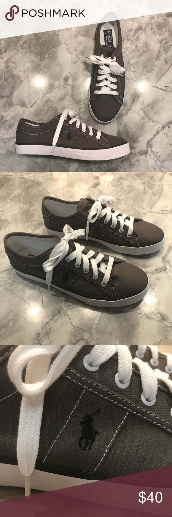 "Polo Ralph Lauren ""Clifton"" Gray Sneakers Men's 10 Polo Ralph Lauren ""Clifton"" Gray Canvas Sneakers. Men's size 10D. Brand new, never worn. A must have for the casual men's closet. Polo by Ralph Lauren Shoes Sneakers"