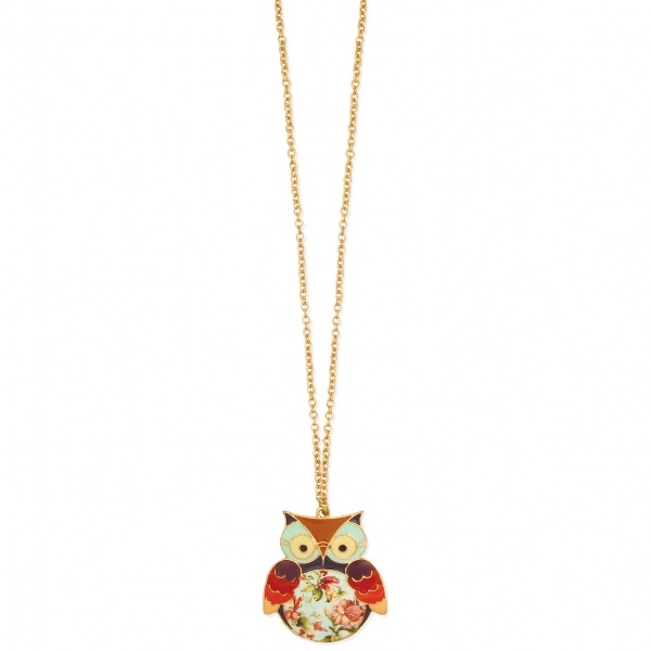Owls inspire wisdom and calm; wear one and have the smartest fashion sense around.