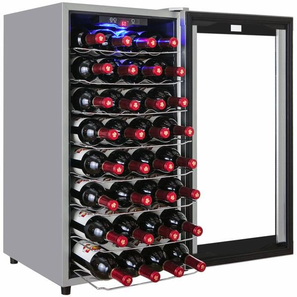 AKDY AWC44EC 32 Bottles Single Zone Wine Cooler 44EC-ASV – Good Wine Coolers