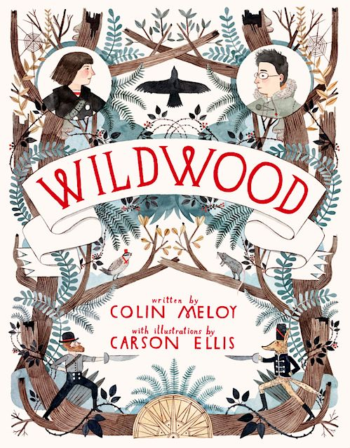 Wildwood book cover by Carson Ellis | Book Cover Design