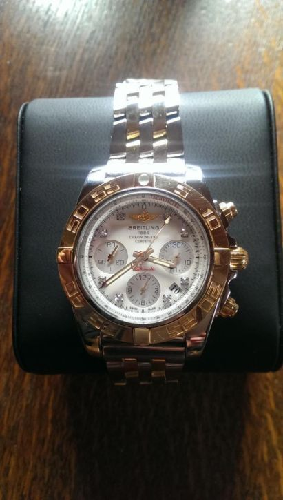 Beautiful Breitling Chronomat 41 in 18K gold / stainless steel version equipped  #Breitling