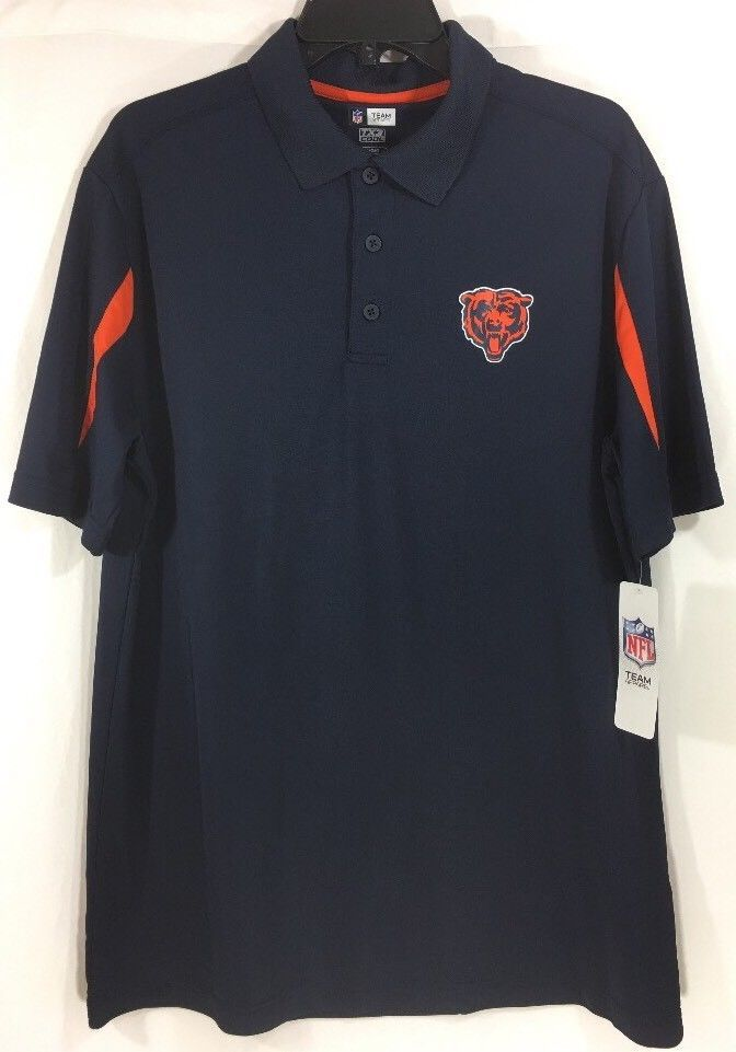Nice NFL TEAM APPAREL TX3 COOL Chicago Bears Mens Polo Shirt L  hot sale