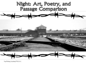 Classroom activity that has students search for and analyze a common subject and theme found within different excerpts from Night, poems from Holocaust victims/survivors, and art depicting the Holocaust.