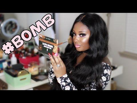 B.O.M.B Drugstore Makeup Tutorial | Black Owned Makeup Brands Matter | Makeupd0ll - YouTube